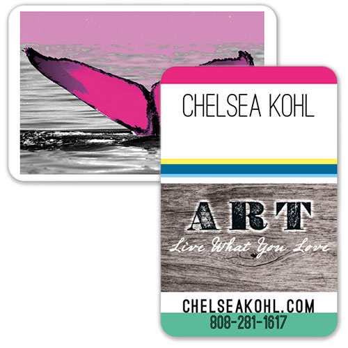 FLYING 'OKOLE branding logo and business cards for Chelsea Kohl Art on the Branding, Websites & Marketing Our Work page.