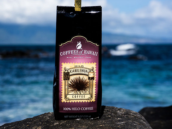 FLYING 'OKOLE marketing photo for Coffees of Hawaii on the Branding, Websites & Marketing Our Work page.