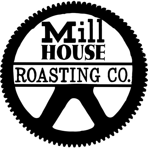 FLYING 'OKOLE branding logo for the Mill House Roasting Co. on the Branding, Websites & Marketing Our Work page.