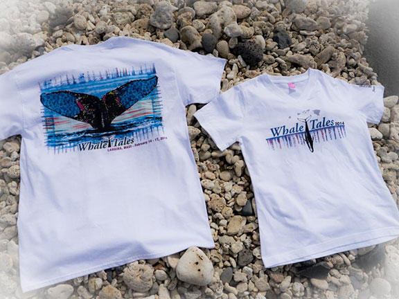 FLYING 'OKOLE product t-shirt design for Whale Trust Maui on the Branding, Websites & Marketing Our Work page.