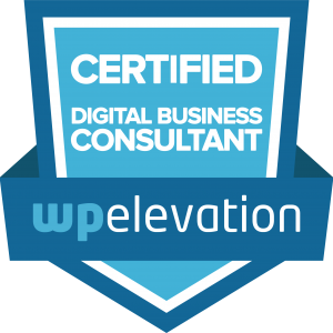 FLYNG 'OKOLE Chelsea Kohl Certified Digital Business Consultant from wpElevation on the About and Contact page.
