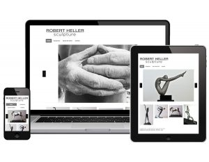 FLYING 'OKOLE website design for Robert Heller Sculpture on the Branding, Websites & Marketing Our Work page.