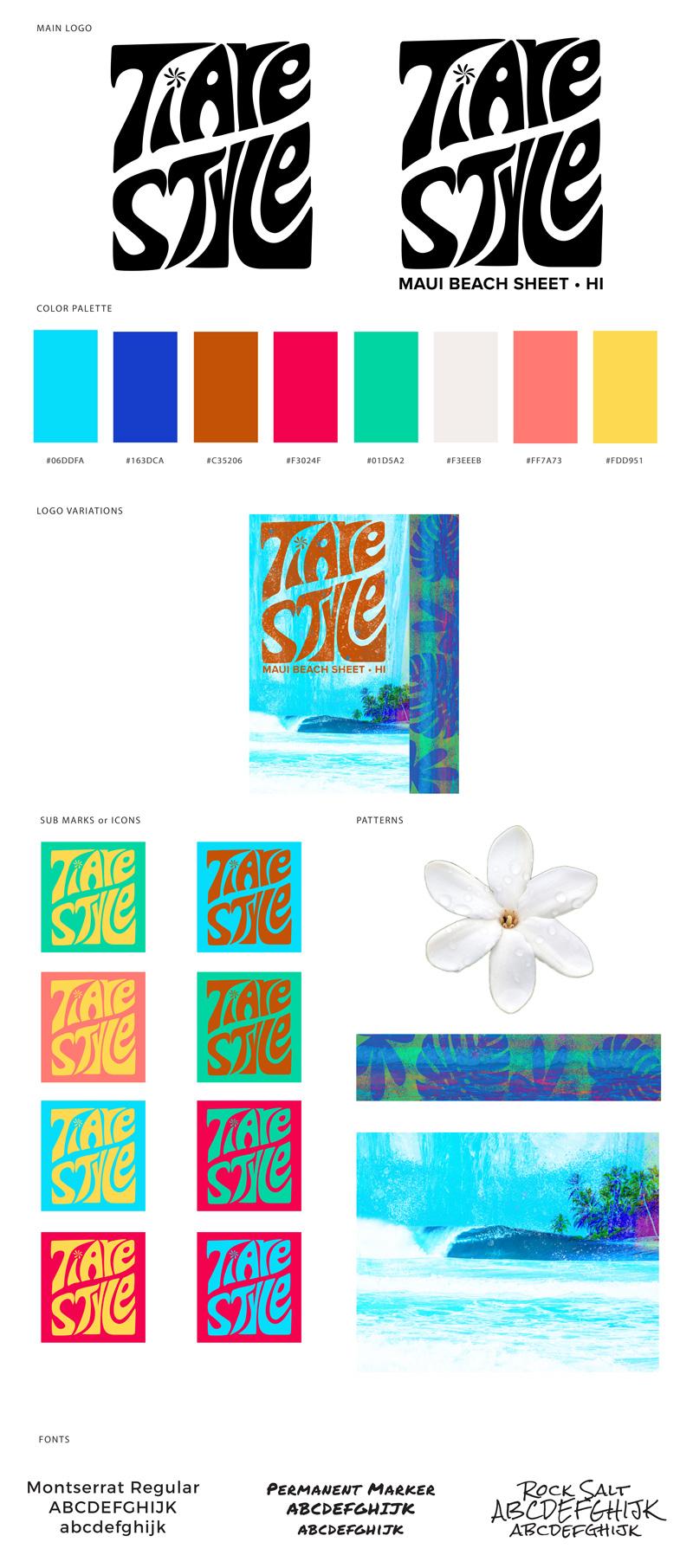 TIARE STYLE Brand Board