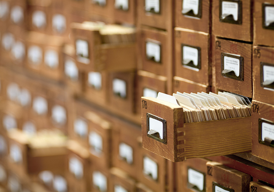 The Google search index is the digital equivalent of a library's card catalog.